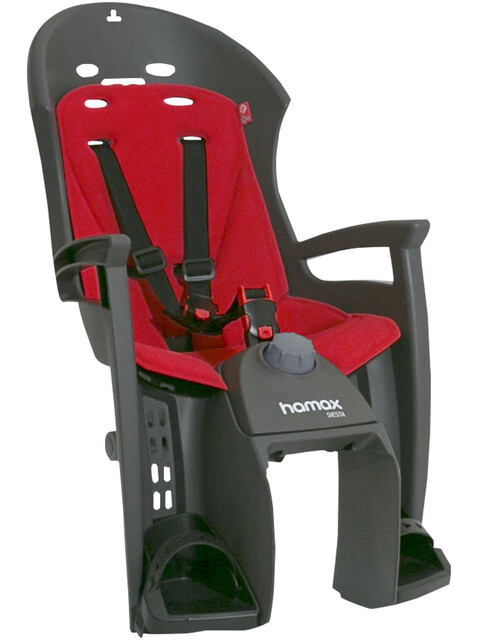 Hamax Siesta - Siège enfant - porte-bagages gris/rouge